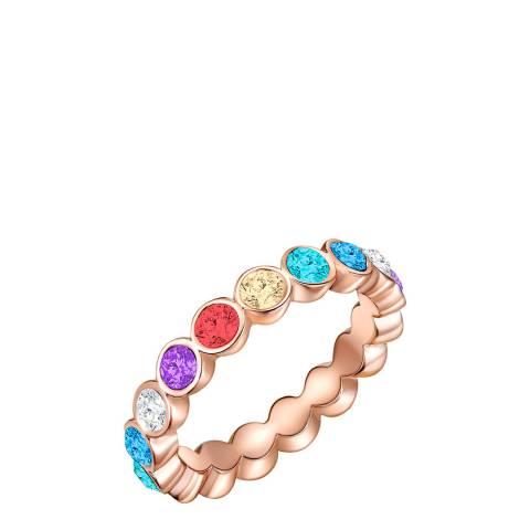 Glamcode Rose Gold Eternity Ring with Swarovski Crystals