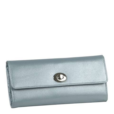 WOLF Ice Blue Leather Jewellery Roll