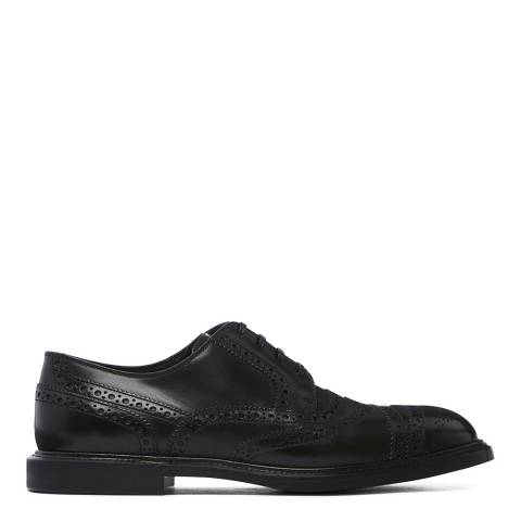 Dolce & Gabbana Black Leather Detailed Brogues