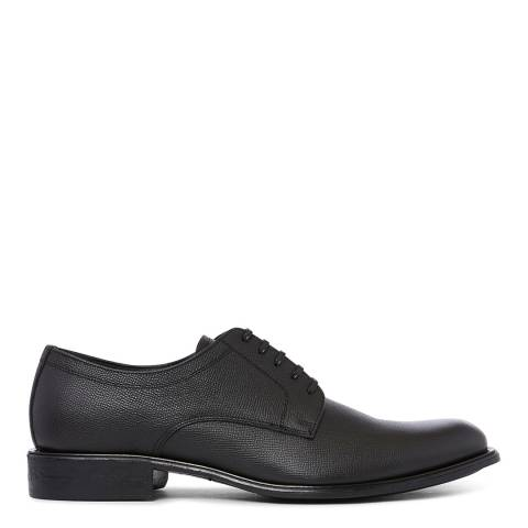 Dolce & Gabbana Black Grained Leather Formal Brogues