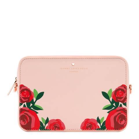 Johnny Loves Rosie Blush Rose Print Crossbody Bag