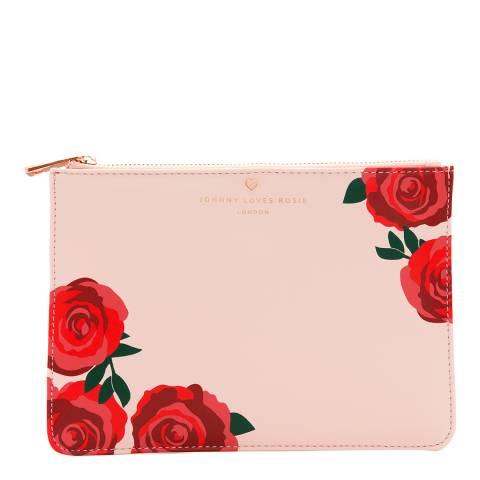 Johnny Loves Rosie Blush Rose Print Pouch