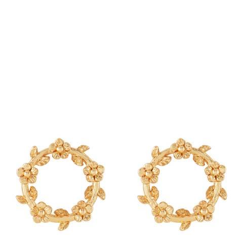 Johnny Loves Rosie Gold Flower Circle Earrings