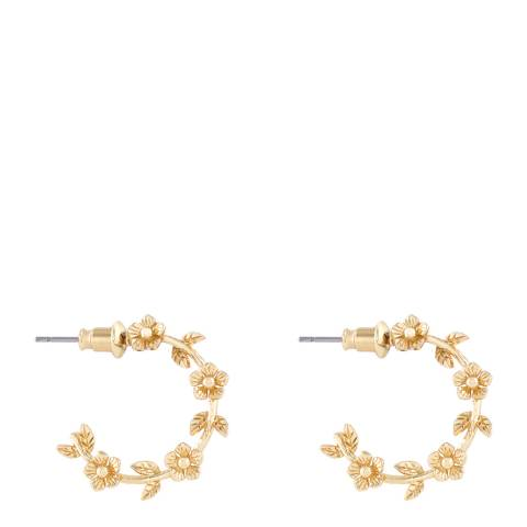 Johnny Loves Rosie Gold Flower Hoop Earrings