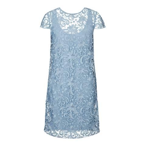 Winser London Blue Lace Slip Dress