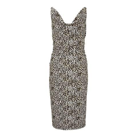 Winser London Leopard Print Soft Shift Dress