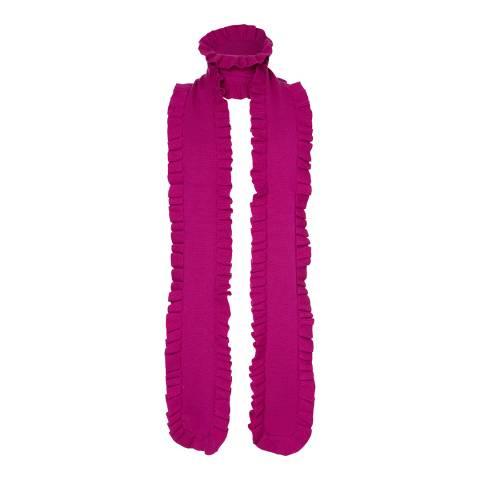 Winser London Magenta Ruffle Merino Wool Scarf