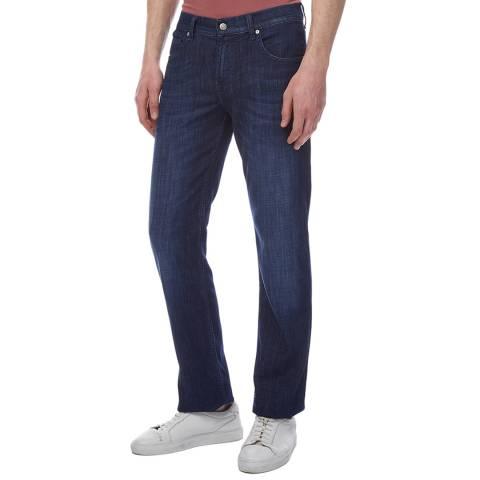 7 For All Mankind Dark Blue Slimmy Weightless Kuta Jeans