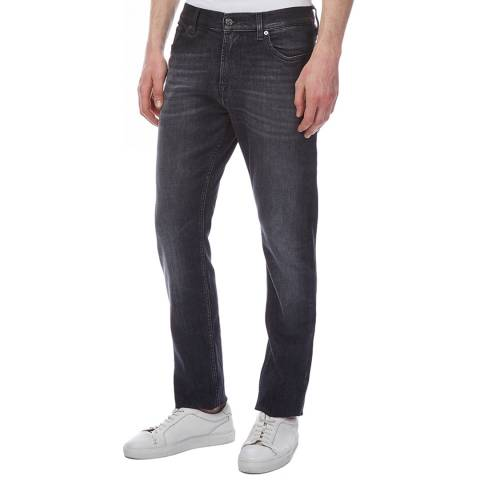 7 For All Mankind Charcoal Ronnie Cachan Skinny Stretch Jeans