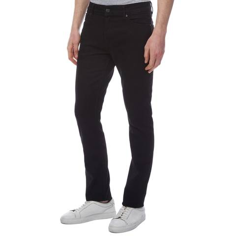 7 For All Mankind Black Ronnie Skinny Stretch Jeans