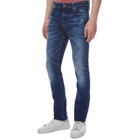 7 For All Mankind Dark Blue Ronnie Dudley Skinny Stretch Jeans