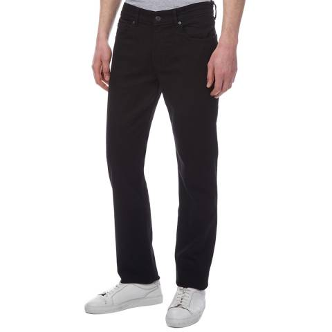 7 For All Mankind Black Slimmy Roxton Stretch Jeans