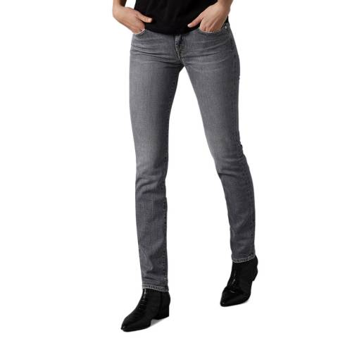 7 For All Mankind Grey Roxanne Slim Stretch Jeans