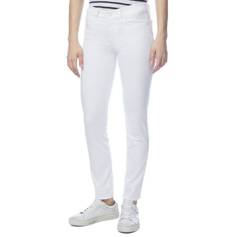 7 For All Mankind White Roxanne Slim Stretch Jeans