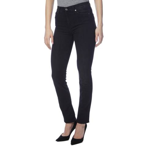 7 For All Mankind Black Wash Rozie Slim Stretch Jeans