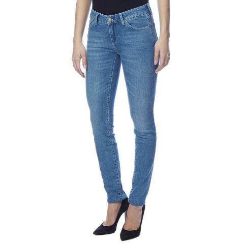7 For All Mankind Light Blue Cristen Slim Stretch Jeans