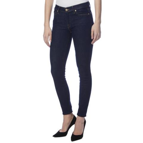 7 For All Mankind Indigo Skinny Stretch Jeans