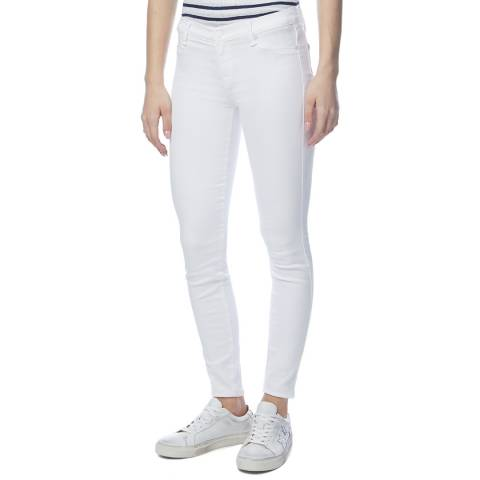 7 For All Mankind White Skinny Illusion Stretch Jeans