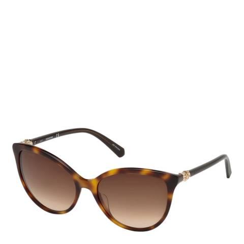 SWAROVSKI Women's Black Swarovski Sunglasses 55mm