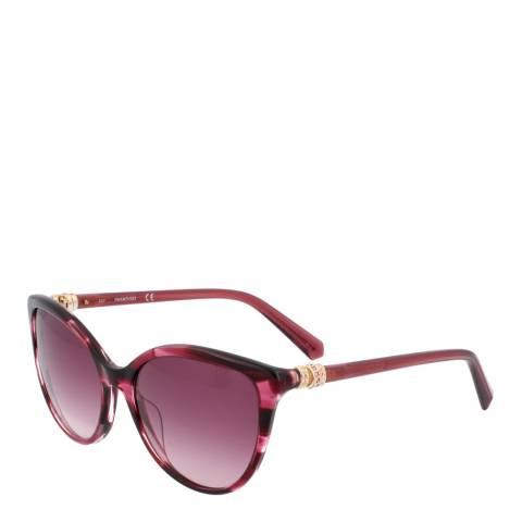 SWAROVSKI Women's Pink Swarovski Sunglasses 55mm