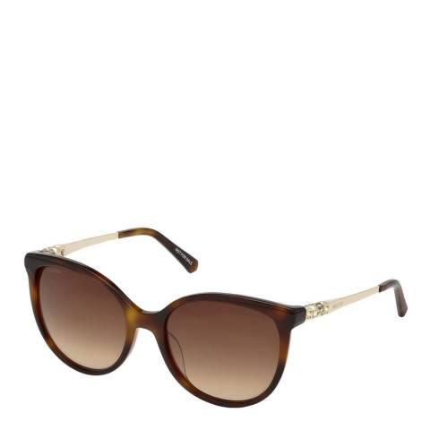 SWAROVSKI Women's Brown Swarovski Sunglasses 55mm