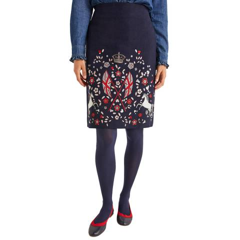 Boden Olivia Embroidered Mini Skirt