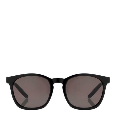 Alexander Wang Black Gold Curved Square Sunglasses