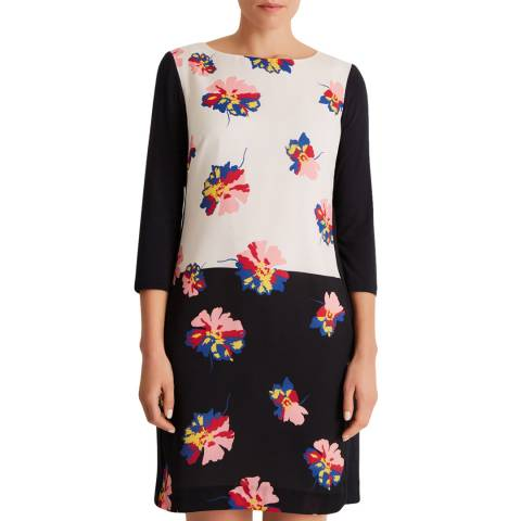 Fenn Wright Manson Navy/Multi Caprise Petite Dress