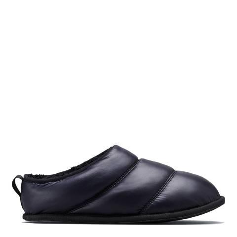 Sorel Black Shiny Nylon Hadley Premium Slippers