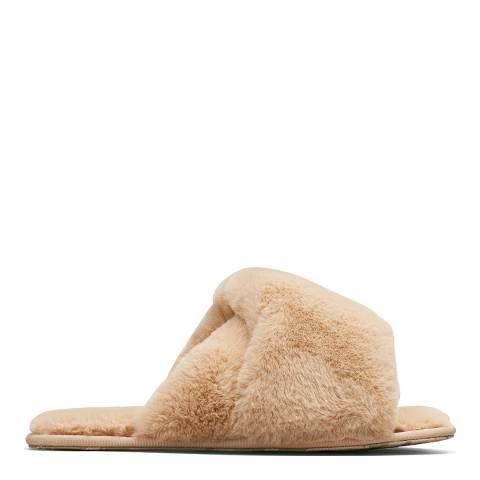 Sorel HADLEY SLIDE FUR-Natural Tan
