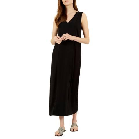Jaeger Black Ottoman Maxi Dress