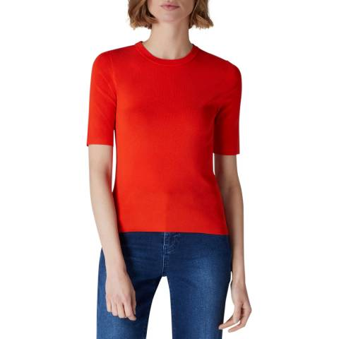 Jaeger Orange Compact Knit T-Shirt