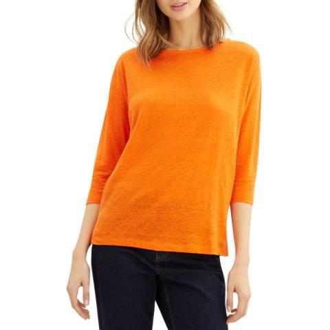 Jaeger Orange Linen Jersey Top