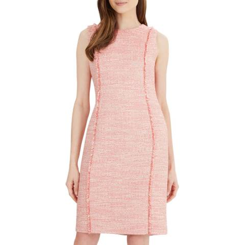 Jaeger Pink Boucle Shift Dress