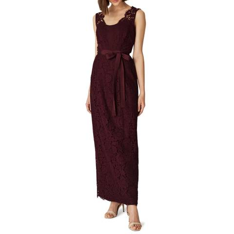 Phase Eight Burgundy Amy Lace Maxi Dress