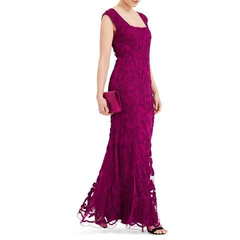 Phase Eight Magenta Abbie Tapework Dress