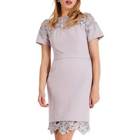 Phase Eight Lilac Debora Lace Dress