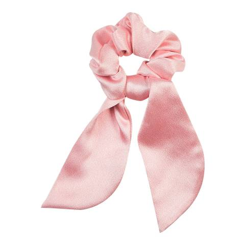 Marzoline Luxury Italian Blush Pink Silk Scrunchie