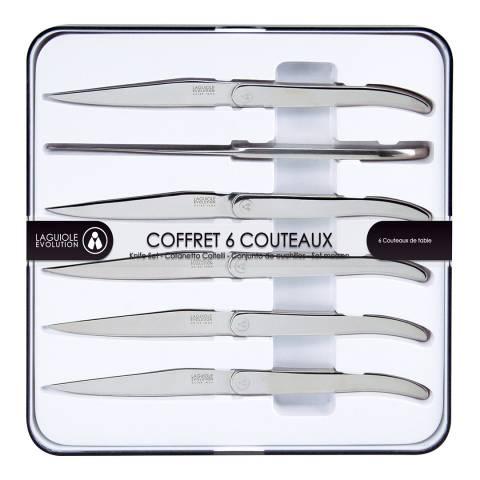 Laguiole Set of 6 Silver Steak Knives