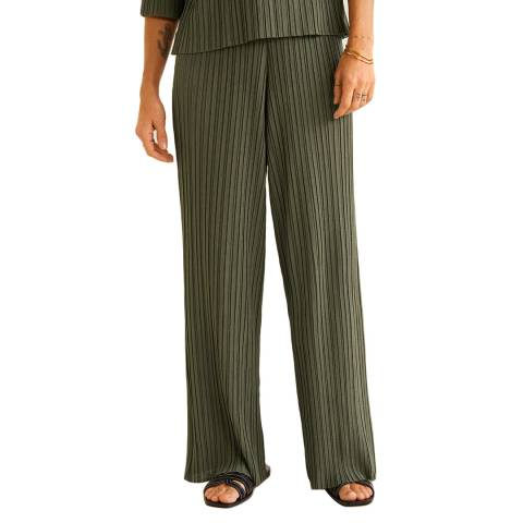 Mango Khaki Pleated Pants