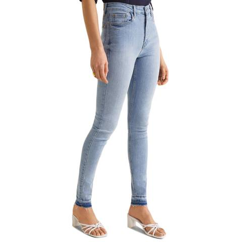 Mango Sky Blue High Waist Soho Jeans