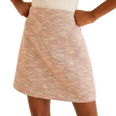 Mango Pink Flecked Miniskirt