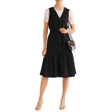 Mango Black Belt Cotton Dress