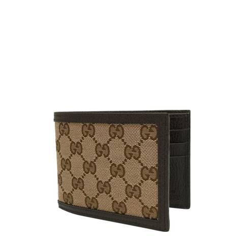 Gucci Men's Beige Canvas Monogram Wallet