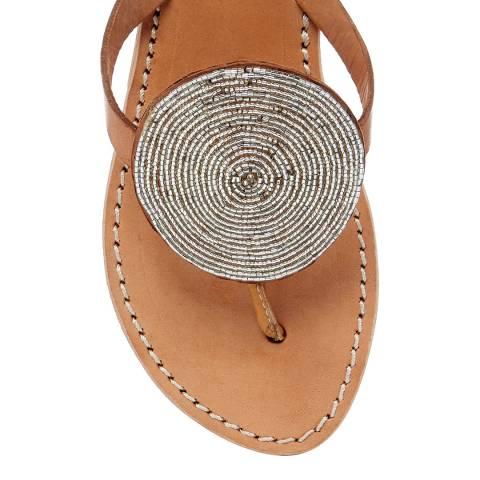 Laidback London Silver Jayda Flat Sandal