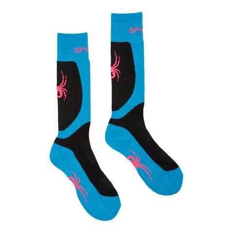 Spyder Black Multi Tress Ski Socks