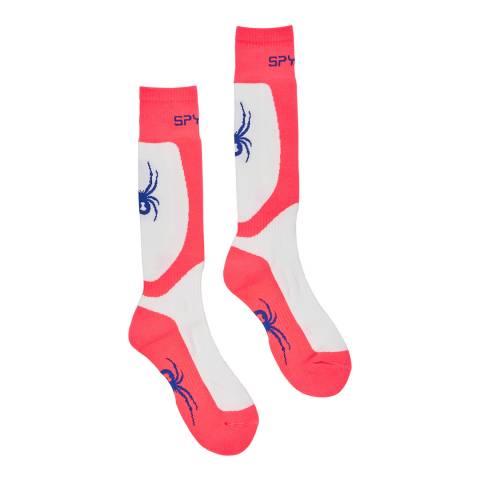 Spyder Blue Multi Tress Ski Socks