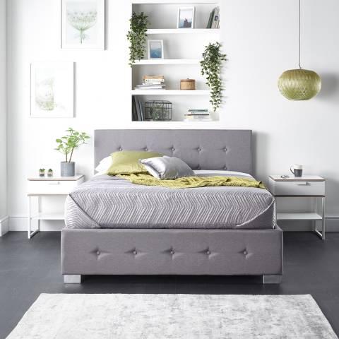 Aspire Furniture King Side Opening Ottoman, Grey