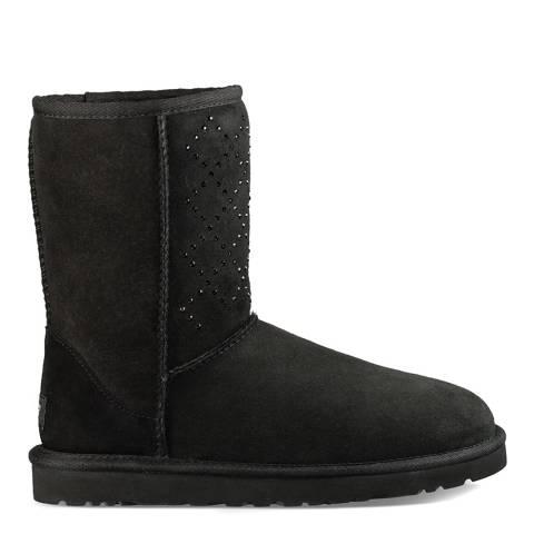 UGG Black Classic Short Crystal Boots