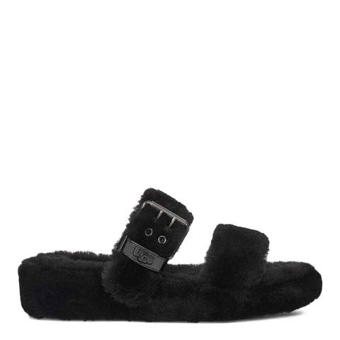 UGG Black Fuzz Yeah  Slippers